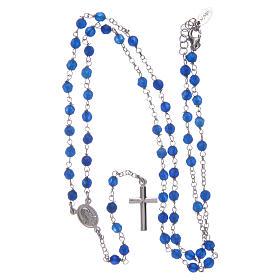 Collier chapelet Amen jade bleue et argent s4