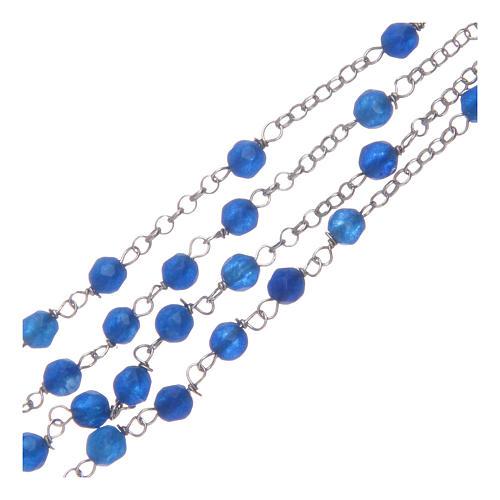 Collana rosario Amen giada blu e Argento 3