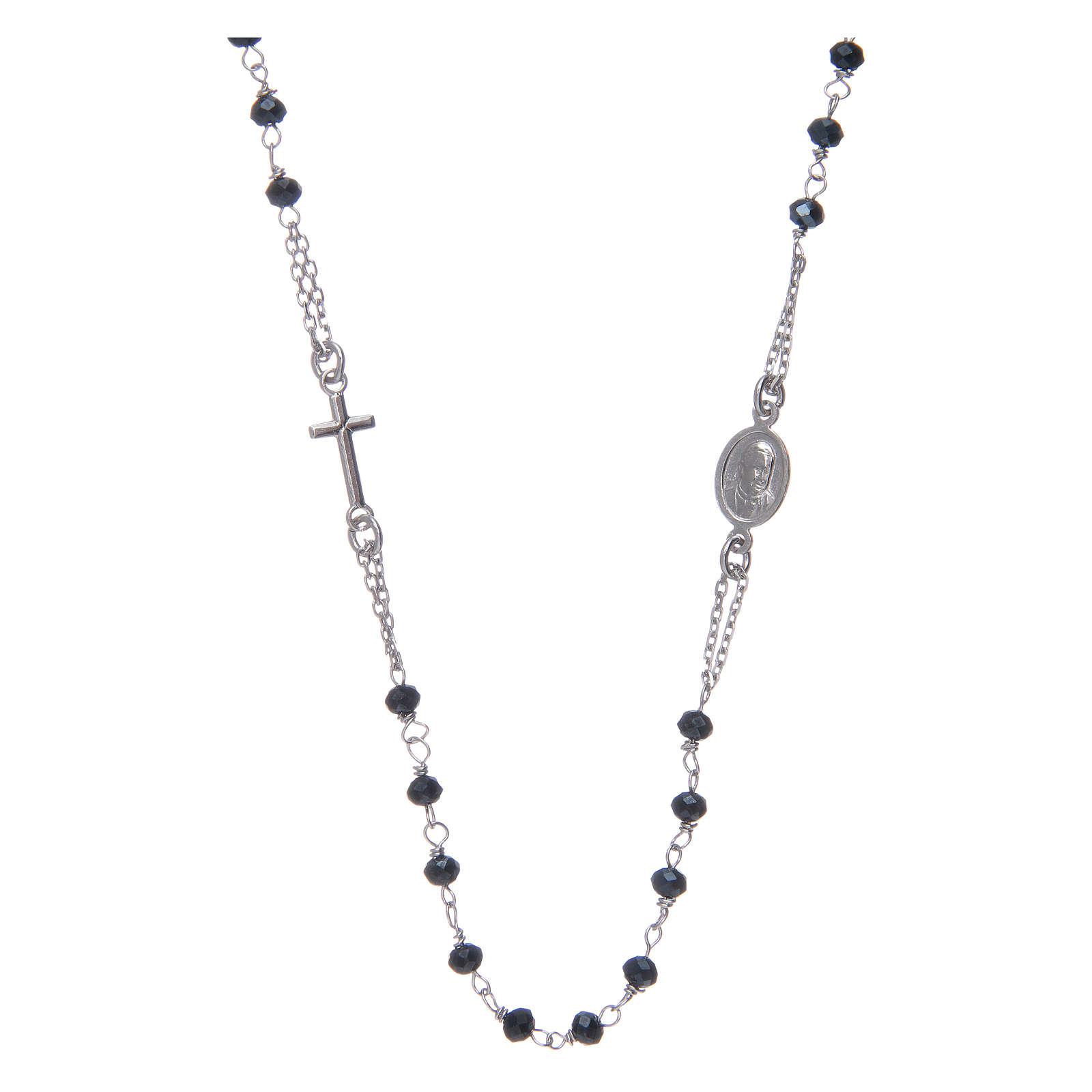 Collar Rosario AMEN Plata 925 cristales grises 4