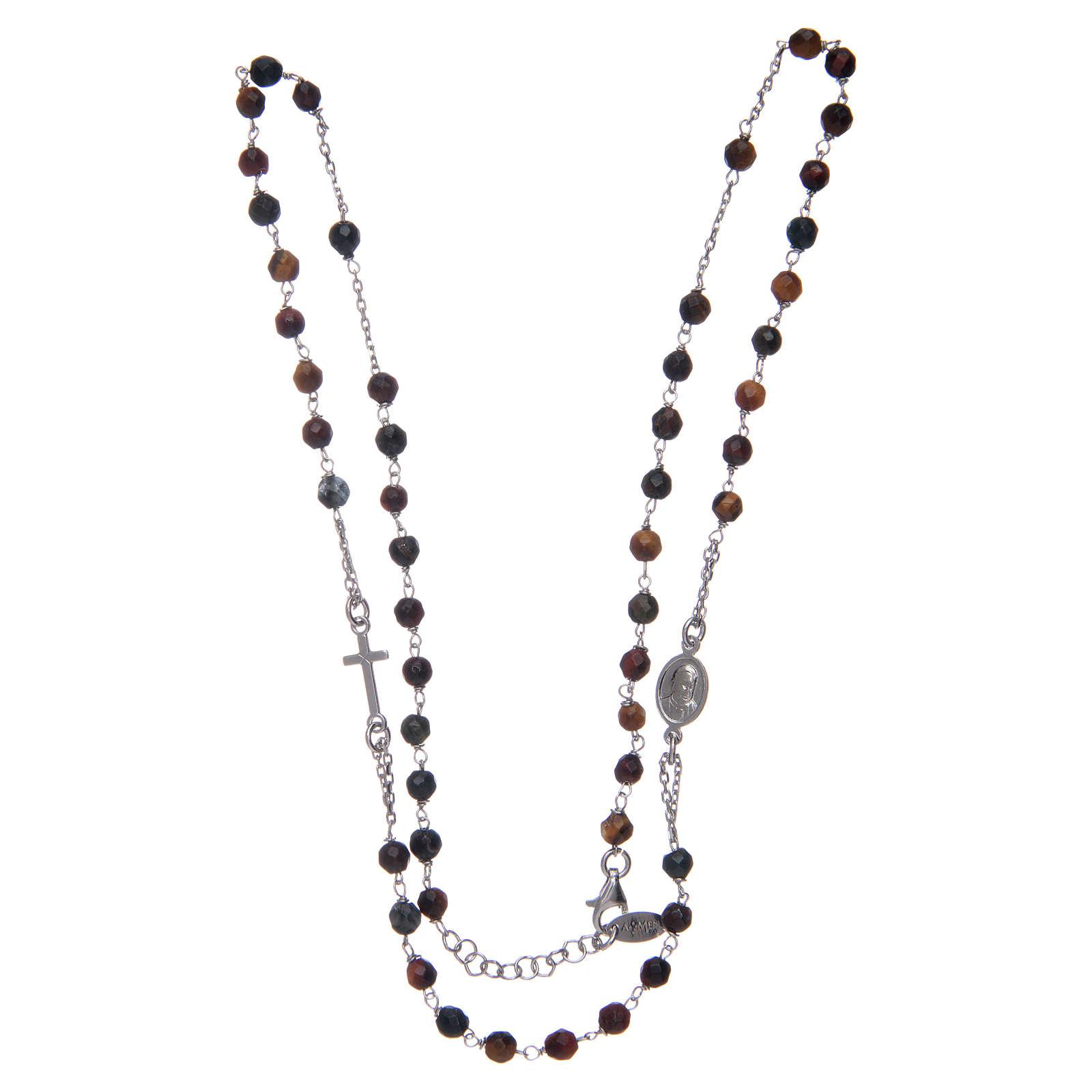 Collana rosario Amen occhio di tigre 4