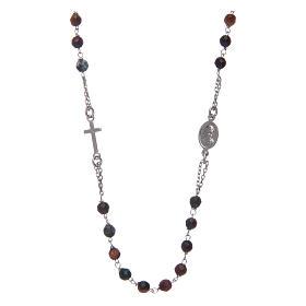 Collana rosario Amen occhio di tigre s2