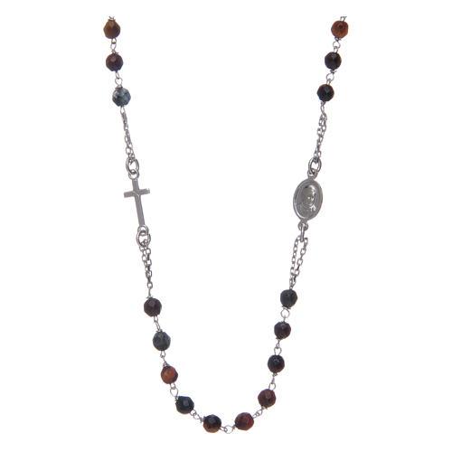 Collana rosario Amen occhio di tigre 2