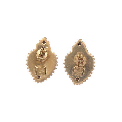 Orecchini cuore votivo argento 925 dorato 6