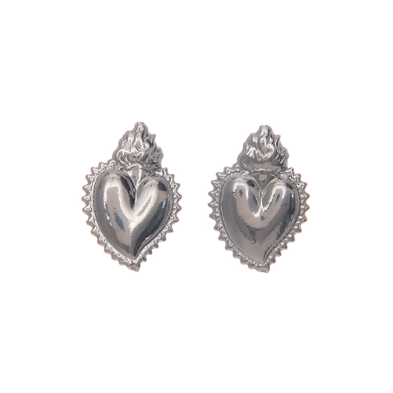 Orecchini a lobo cuore votivo argento 925 argentato 4
