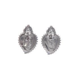 Orecchini a lobo cuore votivo argento 925 argentato s6