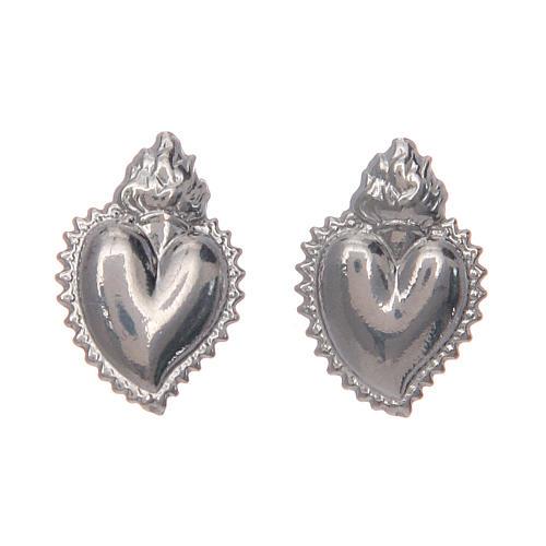 Orecchini a lobo cuore votivo argento 925 argentato 1