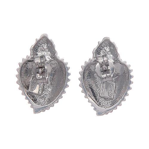 Orecchini a lobo cuore votivo argento 925 argentato 3