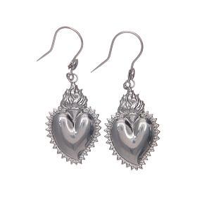 Earrings in 925 sterling silver with silver votive heart s1