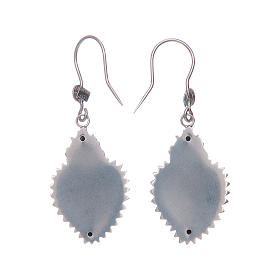 Earrings in 925 sterling silver with silver votive heart s2