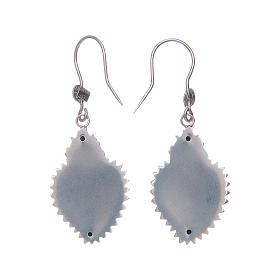 Earrings in 925 sterling silver with silver votive heart s2