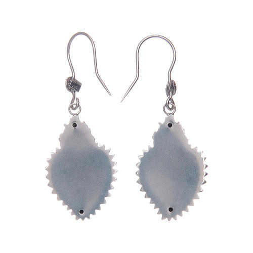Earrings in 925 sterling silver with silver votive heart 2