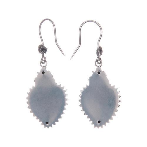 Earrings in 925 sterling silver with silver votive heart 2