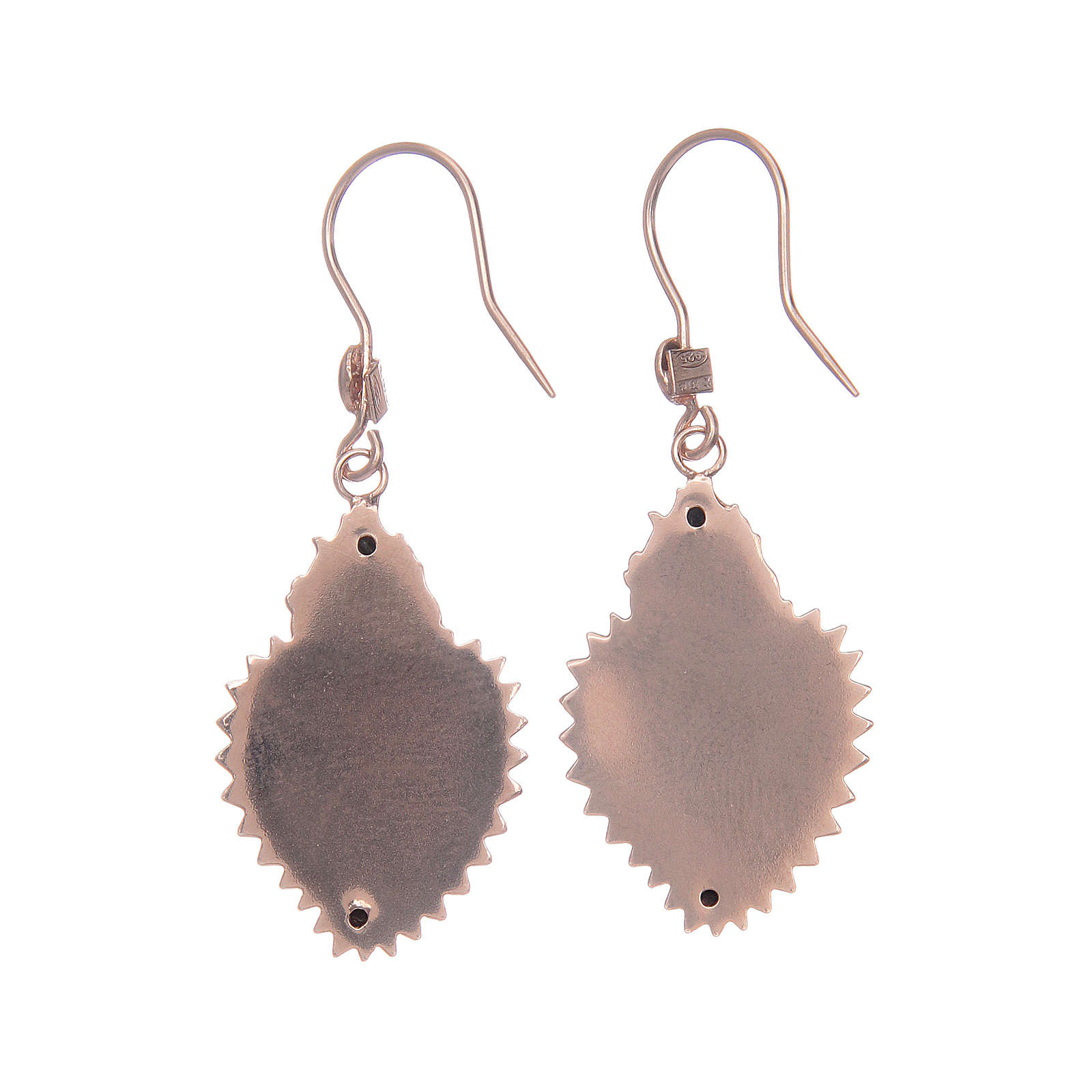 Earrings in 925 sterling silver with rosè votive heart 4