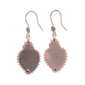 Earrings in 925 sterling silver with rosè votive heart s2