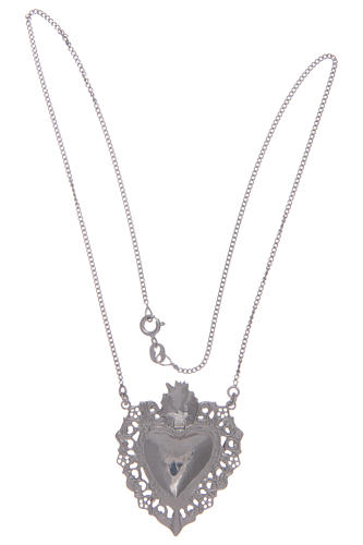 925 sterling silver choker with drilled votive heart 2