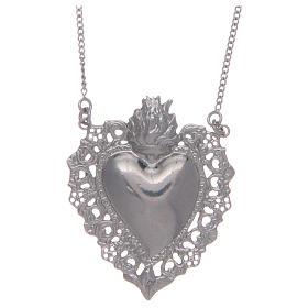 Girocollo in argento 925 cuore votivo traforato s1