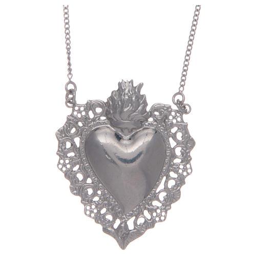 Girocollo in argento 925 cuore votivo traforato 1