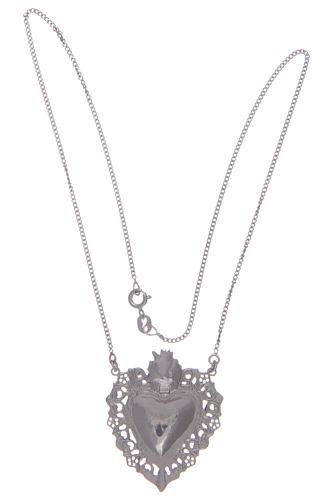 Girocollo in argento 925 cuore votivo traforato 2