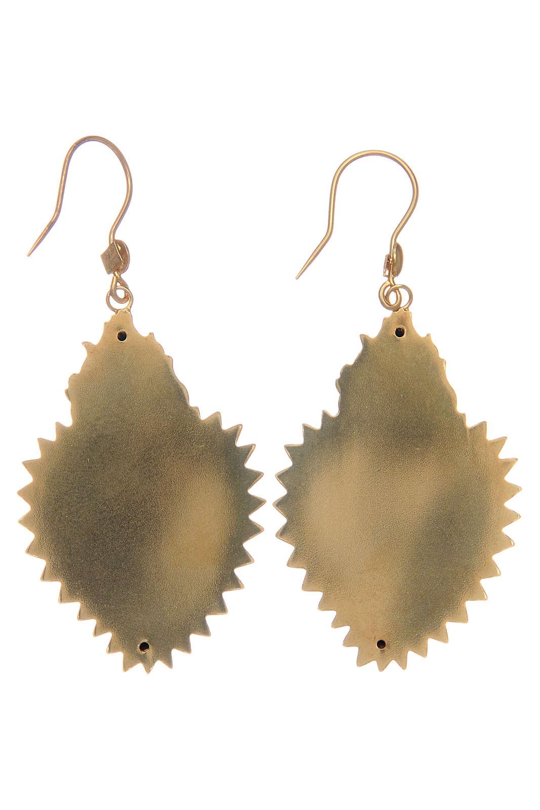 Boucles d'oreilles coeur ex-voto en argent 925 doré 4