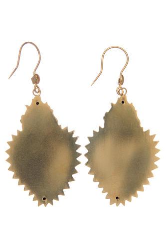 Boucles d'oreilles coeur ex-voto en argent 925 doré 2