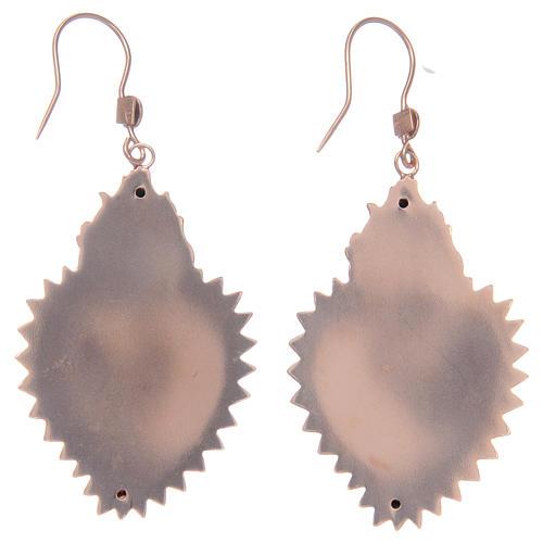Orecchini in argento 925 con cuore ex voto rosato 2