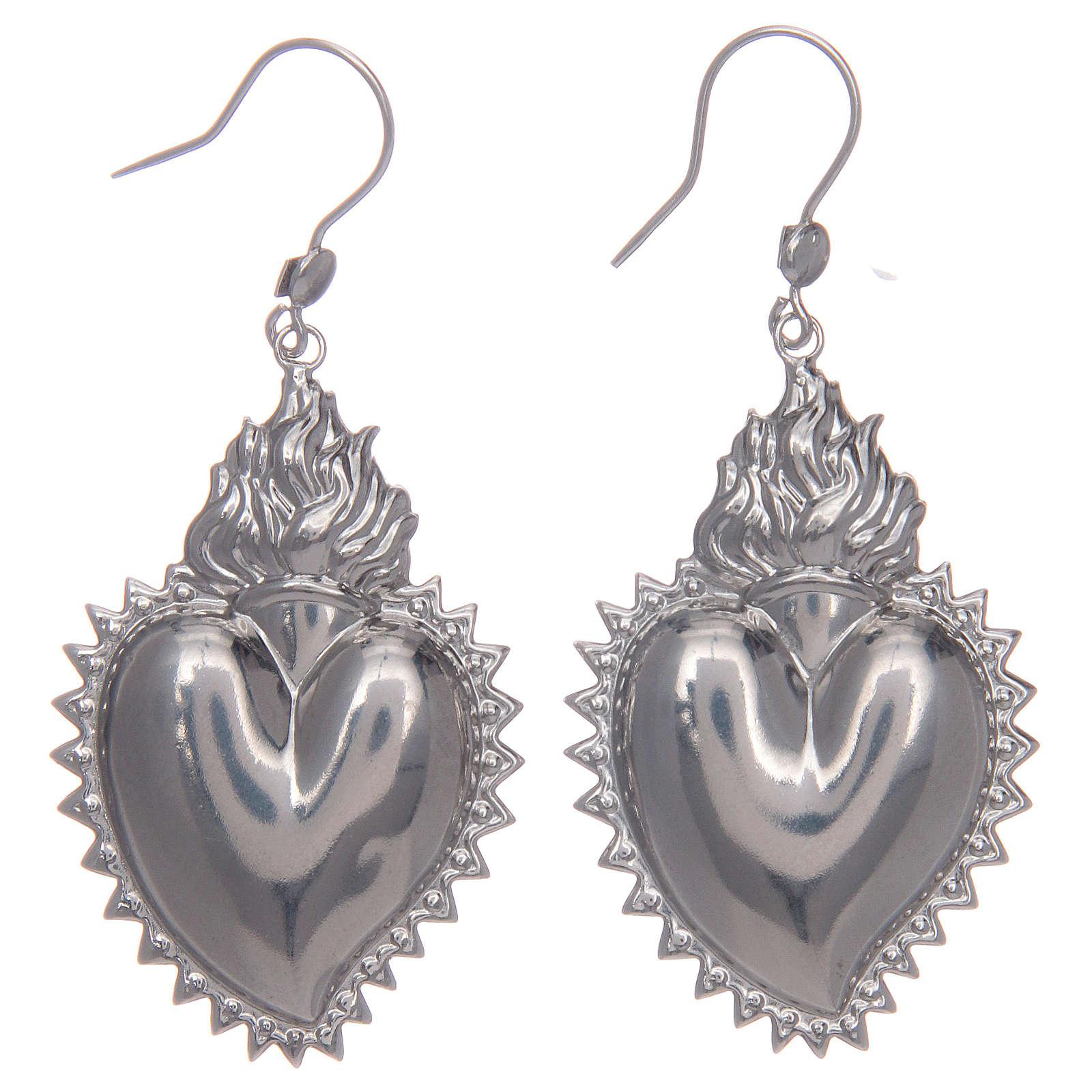 Pendientes corazón exvoto en plata 925 4