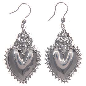 Pendientes corazón exvoto en plata 925 s1
