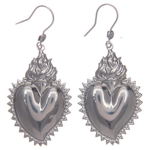 Pendientes corazón exvoto en plata 925 1