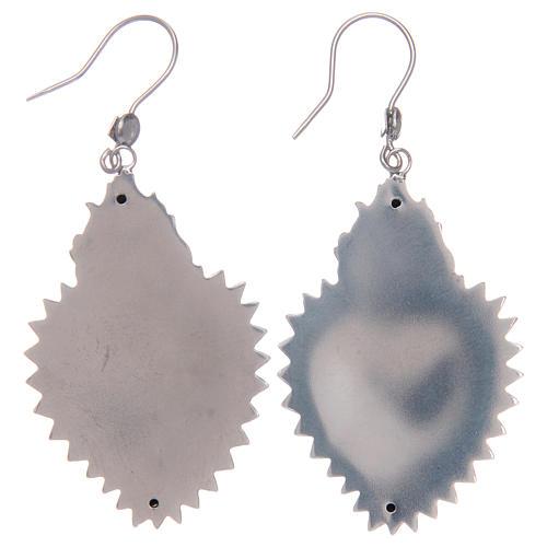 Pendientes corazón exvoto en plata 925 2