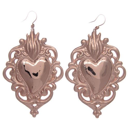 bdb02d7b388 Boucles d oreilles ajourées en argent 925 rosé 1