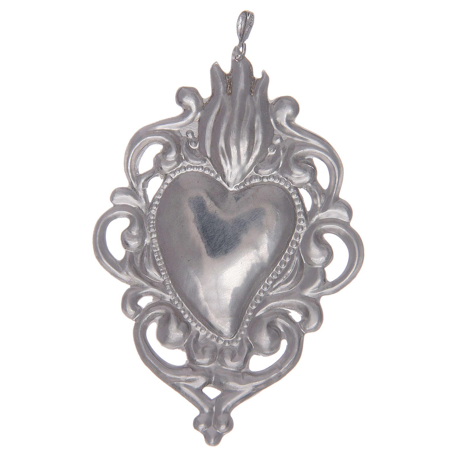 Ciondolo cuore votivo in argento 925 4