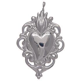 Ciondolo cuore votivo in argento 925 s1