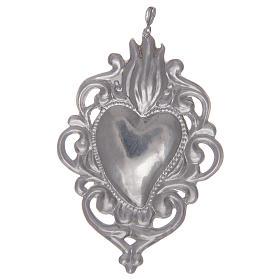 Ciondolo cuore votivo in argento 925 s2