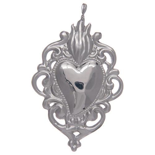 Ciondolo cuore votivo in argento 925 1