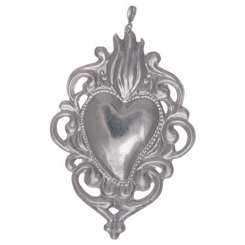 Ciondolo cuore votivo in argento 925 2