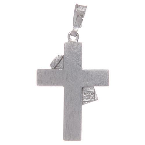 Croce diaconale a ciondolo in argento 925 2