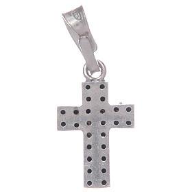 Croce con zirconi neri in Argento 925 s2
