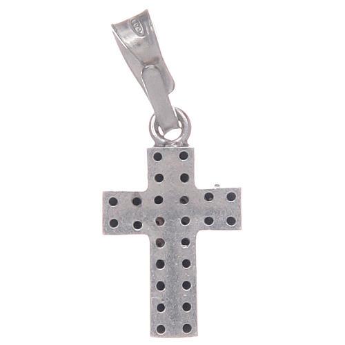 Croce con zirconi neri in Argento 925 2