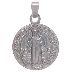 Pendants, crosses and pins: Saint Benedict medal in sterling silver