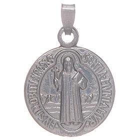 Colgantes, cruces y broches: Medalla San Benito plata 925