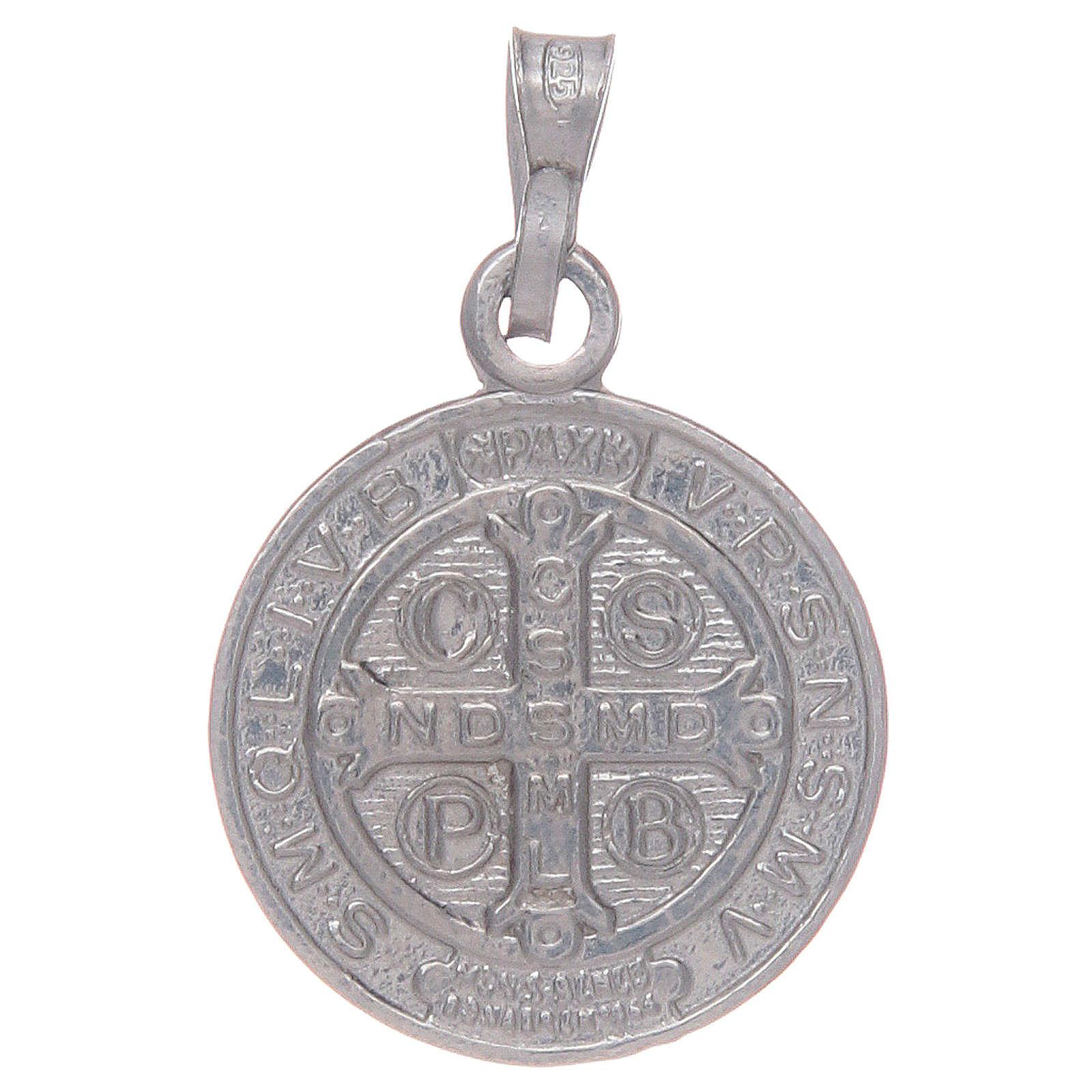 Médaille St Benoît en argent 925 4