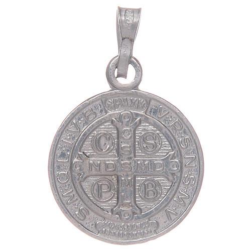 Médaille St Benoît en argent 925 2