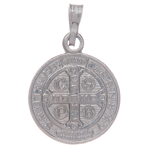 Saint Benedict medal in sterling silver 2