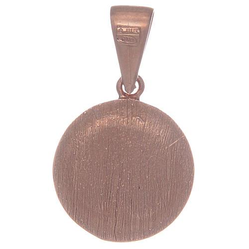 Medalla Virgen Milagrosa de Plata 925 con zircones transparentes 2