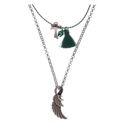 Collier avec tau et aile d'ange 1