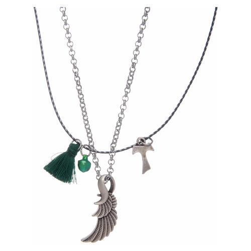 Collier avec tau et aile d'ange 2