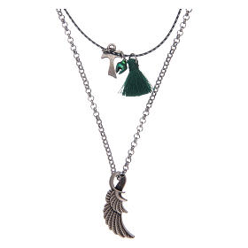 Necklace with Tau and angel's wing s1