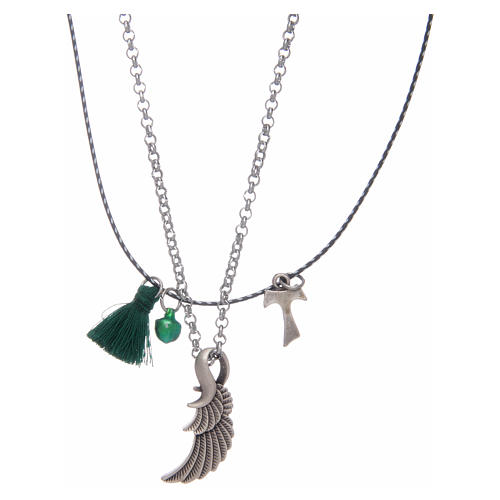 Necklace with Tau and angel's wing 2