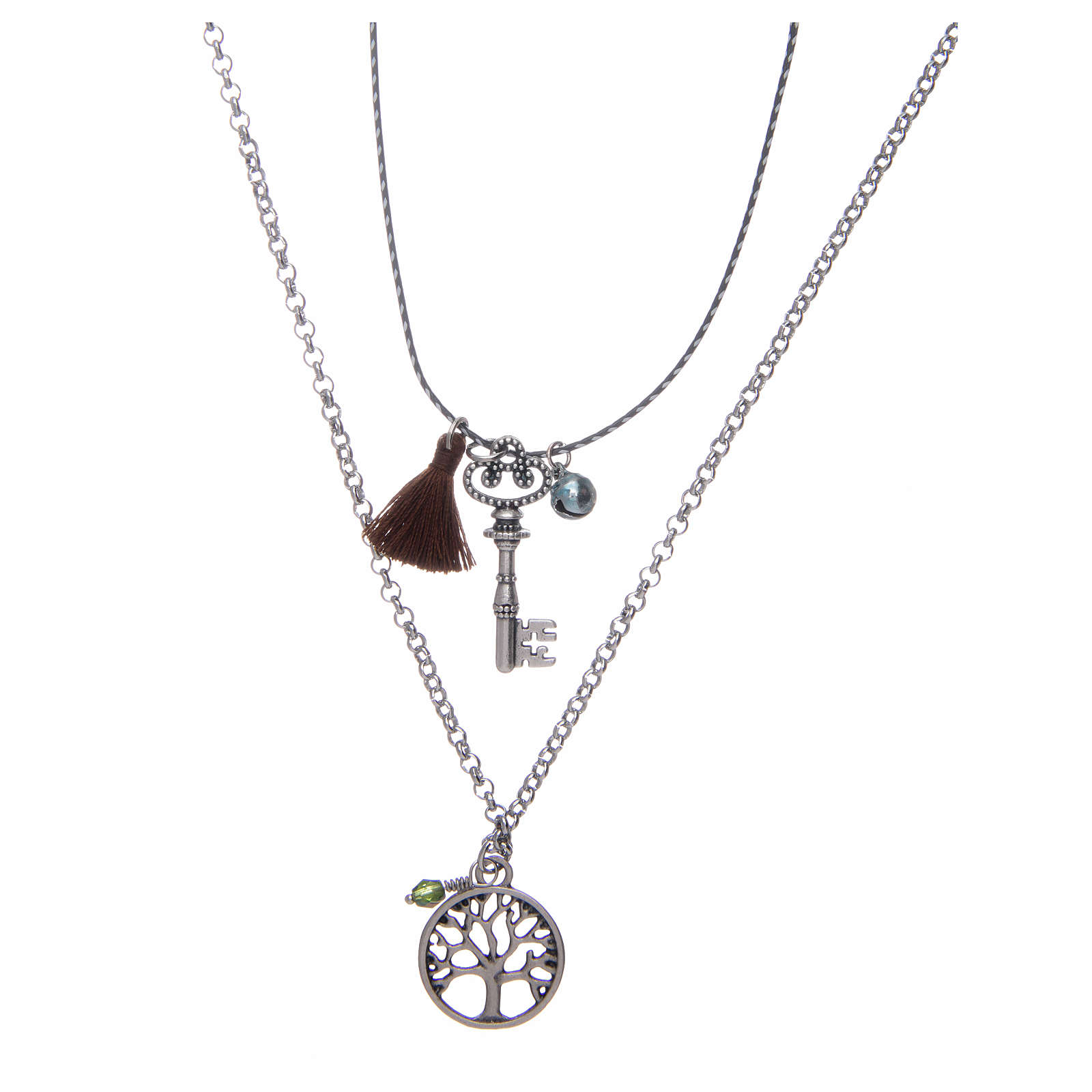 Necklace with Tree of Life and brown tassel 4