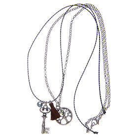 Necklace with Tree of Life and brown tassel s3